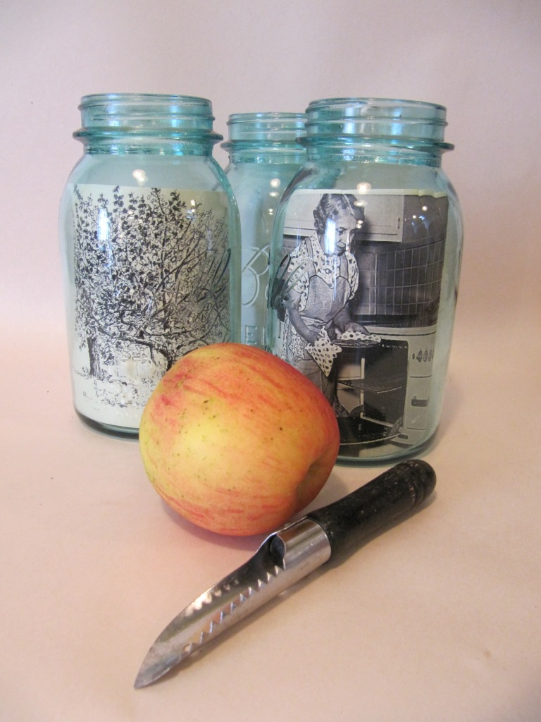 Vintage Ball Canning Jars used as Picture Frames