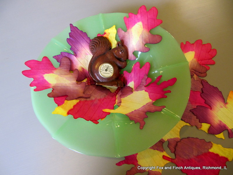 Vintage Squirrel Finds for Autumn Table Centerpieces
