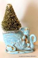 Pixie and Swan Gold Bottle Brush Christmas Tree