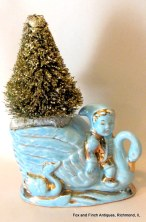 Pixie and Swan Gold Bottle Brush Christmas Tree