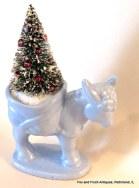 Donkey and Bottle Brush Christmas Tree
