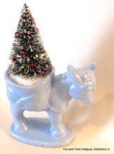 Donkey and Bottle Brush Christmas Tree