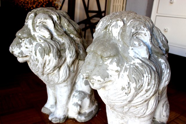 1930's Stone Lions