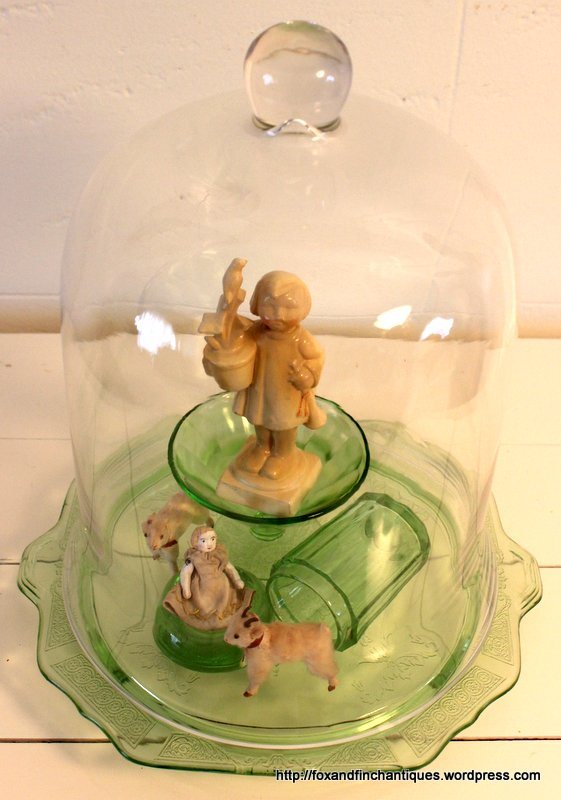 Using Glass Cloche Domes to Display Collections