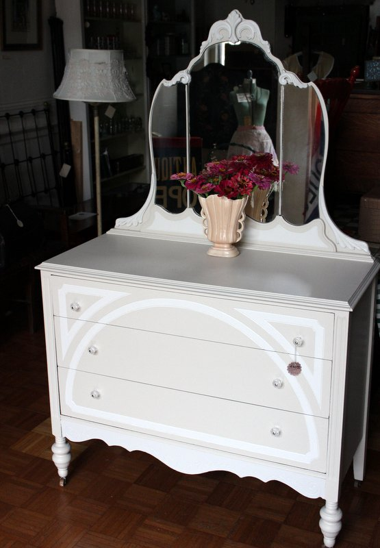 1930's Dresser with Mirror