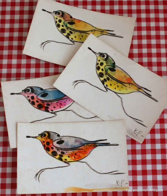 Karl Priebe Artist Handpainted Post Cards Vintage