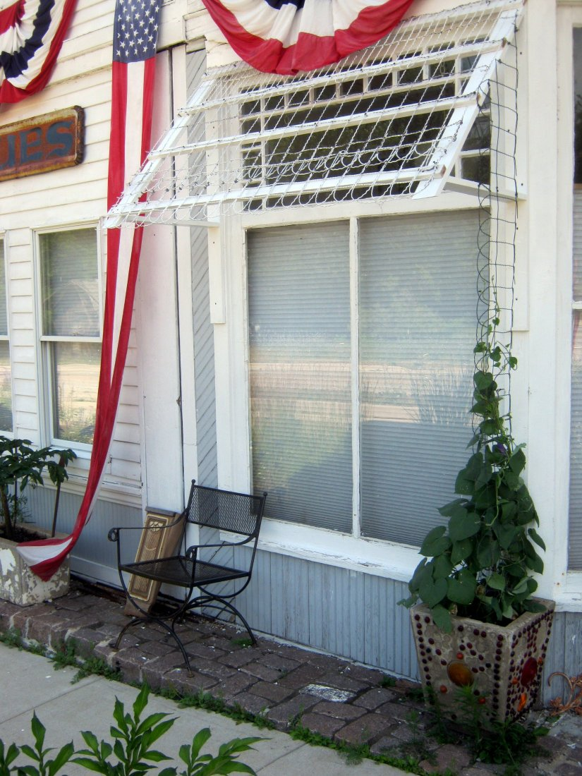 Charming Make-Do Awning for a Sunny Window